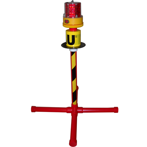 The Guardian Flasher W 2 5 Quot High Stand Amp Caution Tape