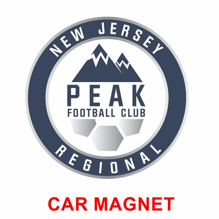 PEAK FC CUSTOM CAR MAGNET - Custom football car magnets