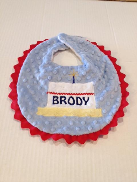Boy 1st Birthday Bib