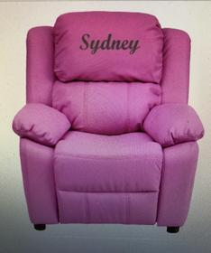 Pink Recliner Chair With Storage Arms