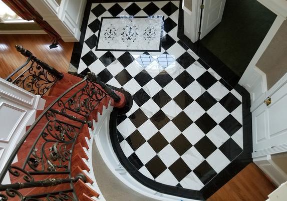 Tile Floor Installation Bergen County Entrance Foyer