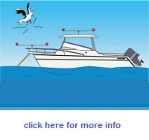 Gullsweep Bird Deterrent for Boats - Standard Model on