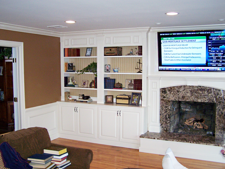 Custom cabinets bergen county built in cabinetry for Family room built in cabinets