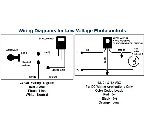 precision_productspmc9a low voltage stem mount photocontrols 12 volt photocell wiring diagram at bayanpartner.co