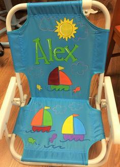 & Baby Beach Chair - Blue