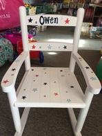 Personalized childrens furniture kids room furniture hand personalized slat rocker negle Images