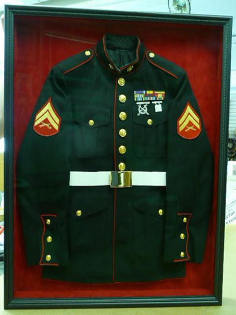 Marine Uniform. Shadow Box & Custom Framing Northern NJ - Sports Jerseys Memorabilia Service ... Aboutintivar.Com