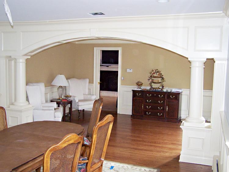 Interior archway trim for Bergen county interior designers